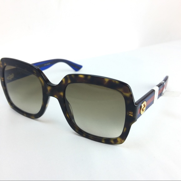 d5366bd7e9851 Gucci Square Frames Sunglasses with glitter sides